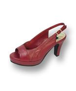 PEERAGE Linda Women Wide Width Leather High Heel Platform Slingback  - $58.45