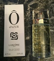 LANCÔME Ô d'Azur Eau De Toilette, 2.5 oz NIB Not Sealed - $45.00