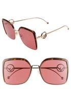 Fendi F is Fendi FF 0294 DDB Gold Copper/Red Square Sunglasses NEW AUTHE... - $199.95