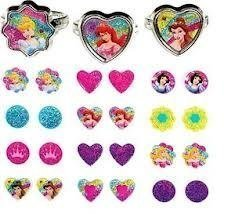 Disney Princess Sticker Earrings and Rings Set - $8.96