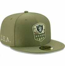 New Era Las Vegas Raiders 59FIFTY Salute to Service Fitted Hat Mens Sz 7... - $34.64