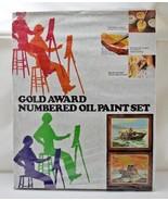 Vintage 1973 Gold Awards Numbered Oil Paint By Number Set-Fishermen STIL... - $71.20