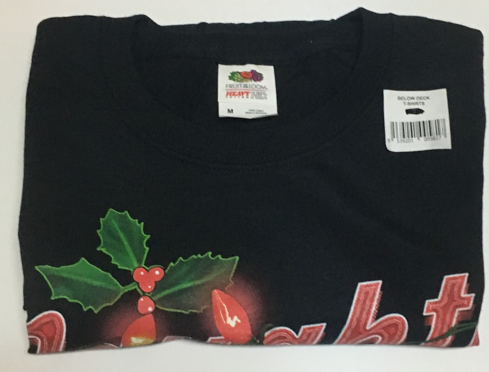 NAUGHTY AND PROUD OF IT Christmas T-Shirt NWT SZ M