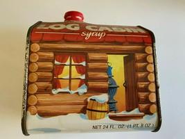 Vintage log cabin Syrup 100th Anniversario Latta General Alimenti 1987 - $13.15