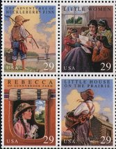1993 Childrens Classic Books Block of 4 US Postage Stamps Catalog 2785-88 MNH