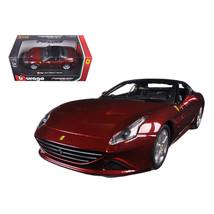 Ferrari California T Burgundy Closed Top 1/24 Diecast Model Car by Bbura... - $33.50
