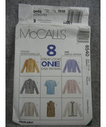 McCalls 8540  Mises 12 14 Unlined  Jacket and Top 8  Variations   UC FF - $6.00