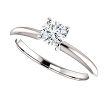 0.50 Carat DEF VVS2 Ideal Cut Diamond Solitaire Ring in 14K Gold - $995.00