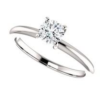 0.50 Carat DEF VVS2 Ideal Cut Diamond Solitaire Ring in 14K Gold - $995.00