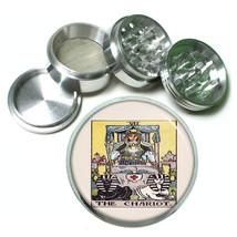 "Tarot Card D9 Aluminum Herb Grinder 2.5"" 63mm 4 Piece VII The Chariot - $13.81"