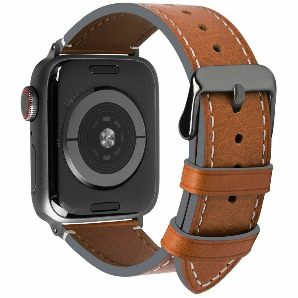 Primary image for Compatible Apple Watch Band Vintage Calf Leather Series 4  iWatch Strap 40mm44mm