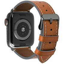 Compatible Apple Watch Band Vintage Calf Leather Series 4  iWatch Strap ... - $47.57+