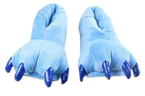 Funny Dinosaur Paw Push Slippers Blue(Asia Size: 35-39)