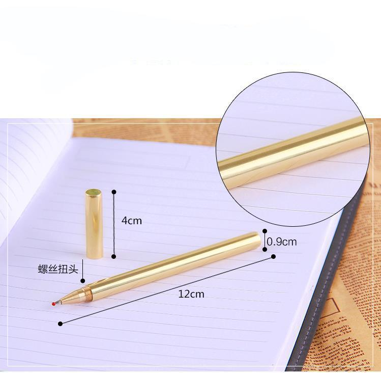 High Quality Luxury Gold Optional Minimalism Superfine Ballpoint Pen Pure brass
