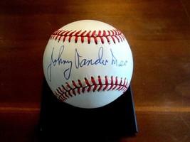 JOHNNY VANDER MEER 1940 WSC CINCINNATI REDS SIGNED AUTO VINTAGE BASEBALL... - $118.79