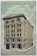 Old Divided Back Era Postcard Merchants National Bank Building, Fort Smi... - $9.79