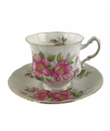 Vintage Paragon England Prairie Rose Floral Cup & Saucer Set Bone China ... - $20.26