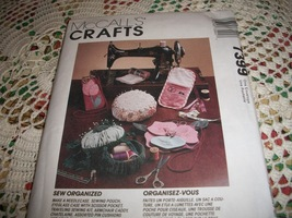 McCall's Crafts Sew Organized Pattern 7399 - $8.00