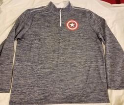 Marvel Captain America Half Zip Lightweight Jacket Blue Mens Size XL 46/... - $27.04