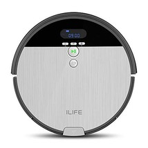 ILIFE V8s Robotic Vacuum Cleaner with Floor Mopping, 0.75L Dustbin, LCD Display