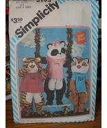 "Sewing Pattern 62933 ""Shirt Tales"" Mascot Costumes Small, 3-4 UNCUT - $7.99"