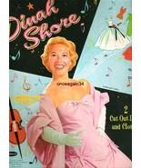 VINTAGE UNCUT 1958 DINAH SHORE PAPER DOLLS~#1 REPRODUCTION~NOSTALGIC/PRE... - $17.50