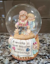 "San Francisco Music Box Co. Heart Tugs ""Friendship"" Musical Glitter Snow... - $29.50"