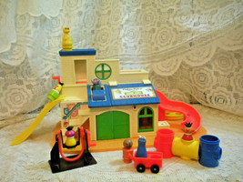 Vintage 70's Fisher Price Little People Play Family Sesame Street CLUBHO... - $59.35