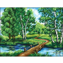 PaintingStyle RA3451 CHUNXIA Framed DIY Painting By Numbers Landscape Ac... - $7.40