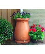 2-in-1 Terra Cotta 65-Gallon Rain Barrel Urn and Planter - $193.05