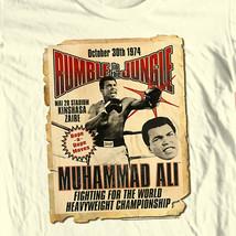 Muhammad Ali T-shirt Rumble in Jungle boxing print graphic cotton tee ALI132 image 1