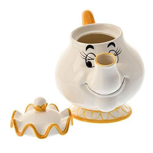 Disney Store Japan Beauty and Beast Mrs.Pot and Chip Tea cup set Be our guest FS image 2