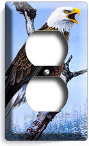 American Bald Eagle In The Wild On Tree Winter Outlet Wall Plate Home Room Decor - $8.99