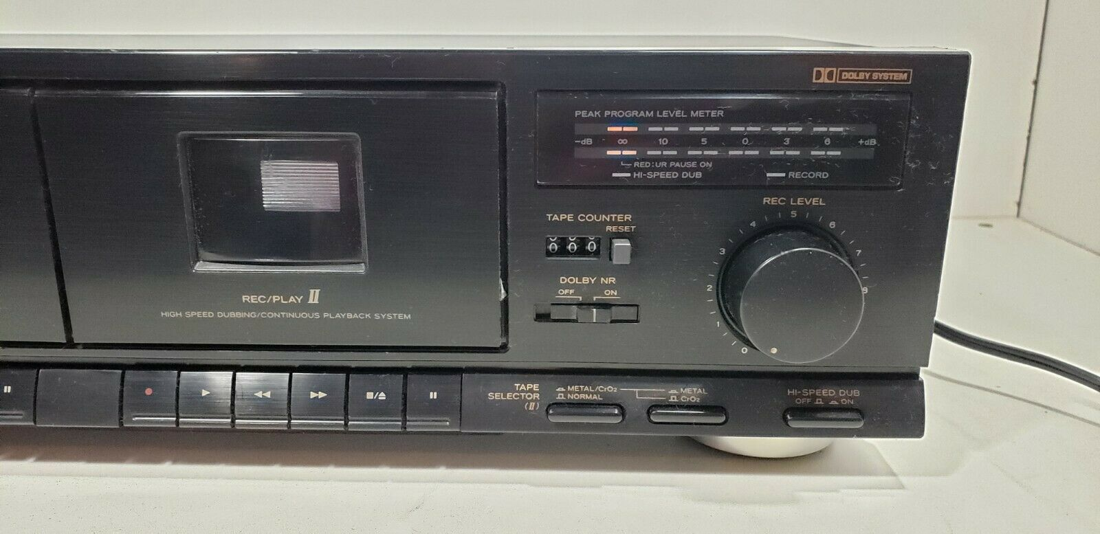 TEAC Stereo Double Cassette Deck W-410..Tested image 2