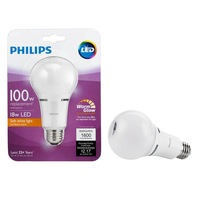4 Bulbs Philips LED 100W Equivalent Soft White Household A21 Dimmable Wa... - $47.88