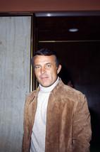Robert Conrad Candid in White Polo Neck Suede Jacket Circa 1975 24x18 Po... - $23.99