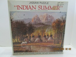 Leanin' Tree Jigsaw Puzzles 550 Pc Nordevco 1982 Tents Indians - $5.94