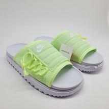 Nike Asuna Slide White Lime Green Volt Womens Sz 10 Slip On CW9707-102 NEW - $78.21