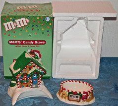 Dept 56 M&M's Ceramic Lighted Candy Store House Candy Dish DISPLAYED ONC... - $21.83