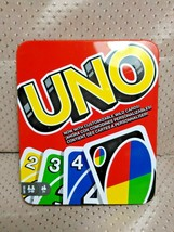 UNO With Customizable Wild Cards In Tin 2-10 Players Age 7+ - $14.99