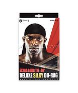"KING J EXTRA LONG TIE 40"" DELUXE SILKY DU-RAG MEN'S TAIL DOO RAG CAPS 40... - $4.95"
