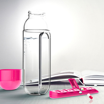 Creative Water Bottle With Pill Box Portable Medicine Built-in Orangizer... - $13.99