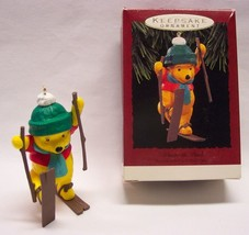 "Hallmark Keepsake WINNIE THE POOH SKIING 3"" CHRISTMAS Tree ORNAMENT W/ Box - $18.32"