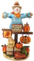10 in Harvest Decor Annual Scarecrow Contest Statuary Outdoor Fall Alpin... - $42.52