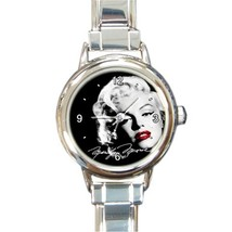 Ladies Round Italian Charm Bracelet Watch Marilyn Monroe Gift model 3031... - $11.99