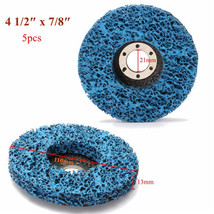 5pcs-110mm-Polycarbide-Abrasive-Stripping-Disc-Wheel-Rust-And-Paint-Remo... - $45.56