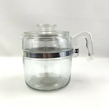 Vintage Pyrex Flameware Percolator 6 Cup Glass Coffee Pot 7756-B Complete - $47.45