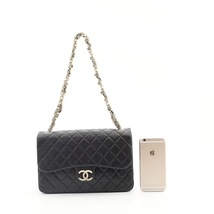 Auth Chanel Limited Ed Westminster Pearl Chain Quilted Lambskin Medium Flap bag image 13