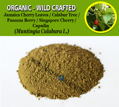 POWDER Kerson Leaf Jamaica Panama Cherry Calabur Tree Capulin Muntingia ... - $7.85+