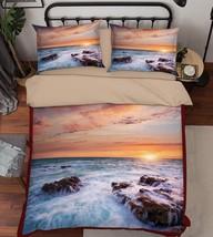 3D Sea Sunset 04 Bed Pillowcases Quilt Duvet Cover Set Single Queen King Size AU - $90.04+